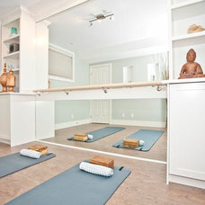 Transitional Home Gym by ANA Interiors