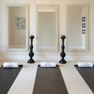 75 Eclectic Home Yoga Studio Design Ideas - Stylish Eclectic Home ...