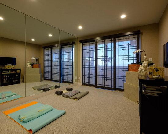Asian Home Yoga Studio Design Ideas Pictures Remodel Decor