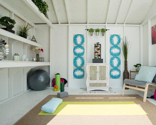 salle de sport romantique photos et id es d co de salles de sport. Black Bedroom Furniture Sets. Home Design Ideas