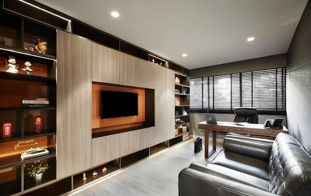 Contemporary Home Office by akiHAUS Design Studio
