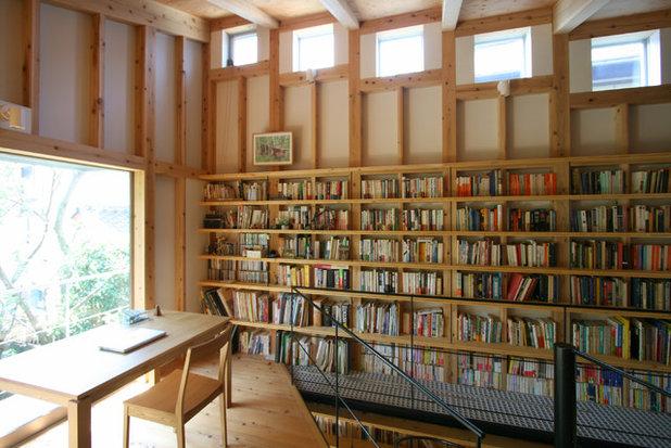 アジアン ホームオフィス・仕事部屋 by 荒木毅建築事務所