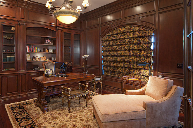 Mediterranean Home Office by Pinnacle Architectural Studio