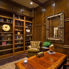 Traditional Home Office by Frankel Building Group