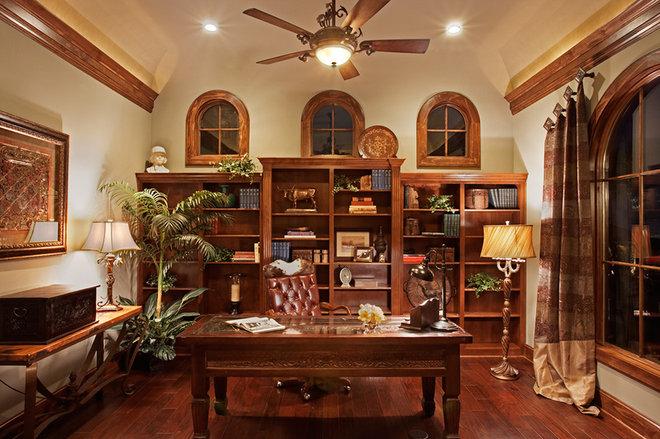 Mediterranean Home Office by Vanguard Studio Inc.