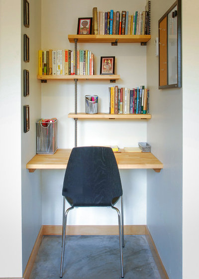 Contemporary Home Office by Mast & Co. Builders