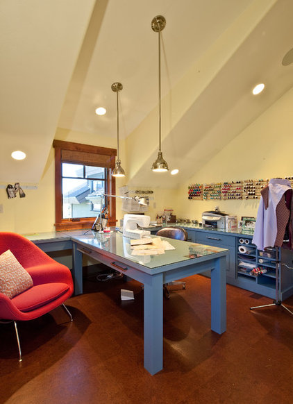 Eclectic Home Office by Jaffa Group Design Build