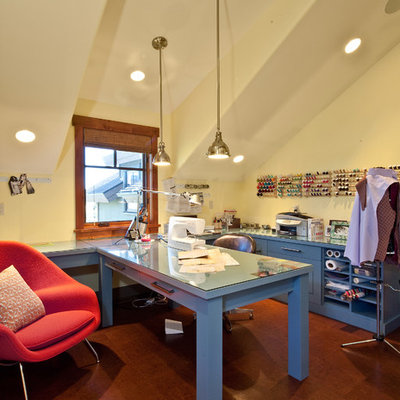 Example of an eclectic craft room design in Salt Lake City