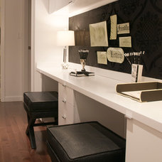 Contemporary Home Office by The Cross Interior Design
