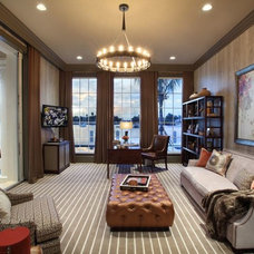 Contemporary Home Office by Claremont Companies