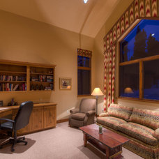 Rustic Home Office by Paffrath & Thomas Real Estate