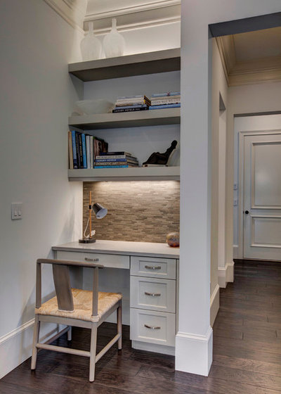 Transitional Home Office by Wolfe Rizor Interiors