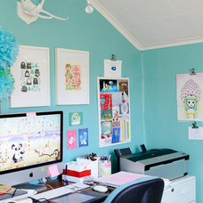 Eclectic Home Office by Kootut murut