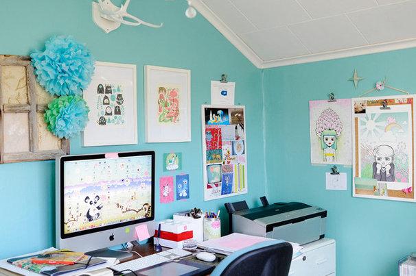 Eclectic Home Office by Kootut murut