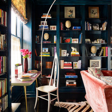 eclectic living room by Hillary Thomas Designs