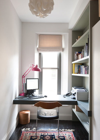 Contemporary Home Office & Library by Moon Architect and Builder