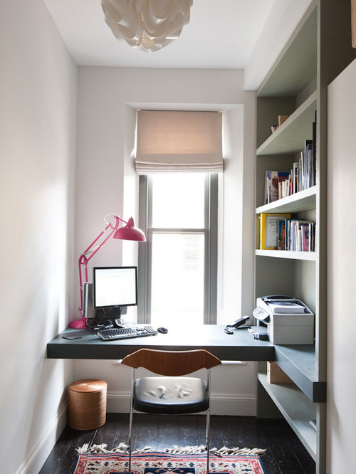 Best Home Office Built-In Desk Design Ideas & Remodel Pictures | Houzz