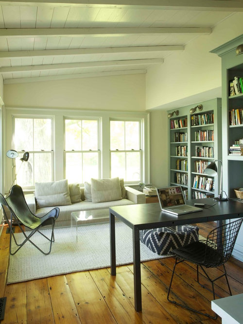 green home office and library design ideas renovations photos. Black Bedroom Furniture Sets. Home Design Ideas