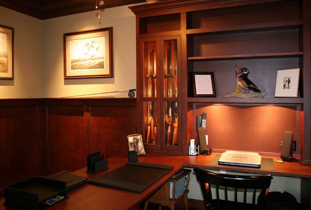 Traditional Home Office by Kaufman Construction Design and Build