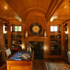 Traditional Home Office by Charles Cudd De Novo, LLC