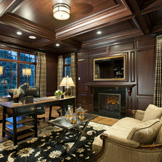 Traditional Home Office by Diane Bishop Interiors