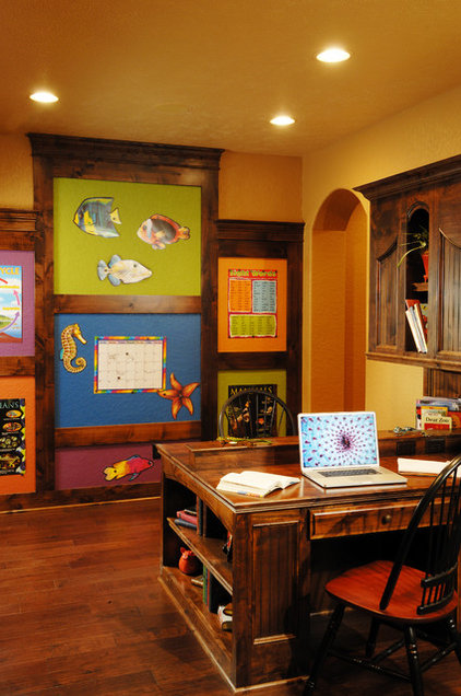 Traditional Home Office by Doug Pitts Construction