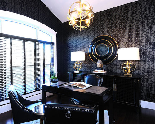 pics luxury office. example of a trendy freestanding desk home office design in other with black walls pics luxury o