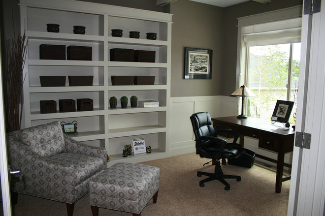 Traditional Home Office by Bradley Allen Interiors