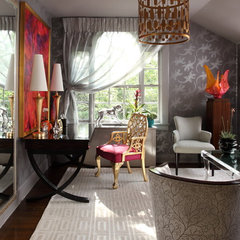 eclectic bedroom by Bryan Alan Kirkland Designs