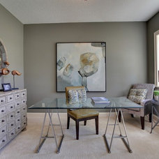Contemporary Home Office by Highmark Builders