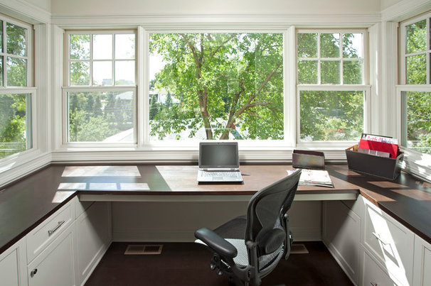 Traditional Home Office by Homes by Tradition