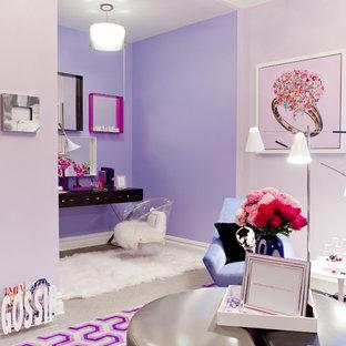 ニューヨークのエクレクティックスタイルのおしゃれなホームオフィス・書斎の写真