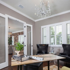 Traditional Home Office by NWC Construction