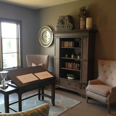 Transitional Home Office by OSMOND DESIGNS