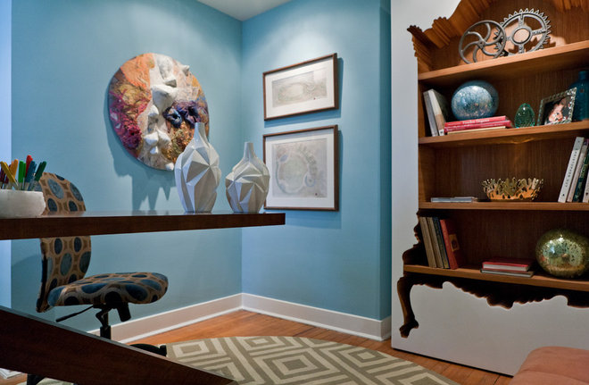 Contemporary Home Office by DC Design House