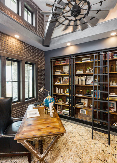 Industrial Home Office by Unique Homes Iowa