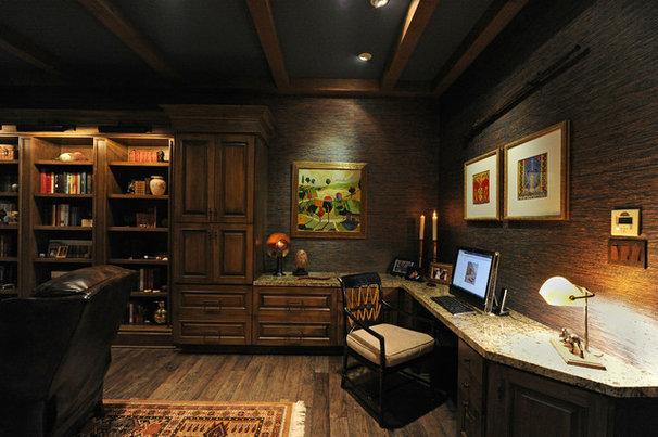 Mediterranean Home Office by Herridge & Assoc., Inc.