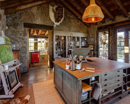 50 best rustic home office ideas houzz - Homedesignlover com ...