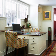Traditional Home Office by K.Marshall Design Inc.