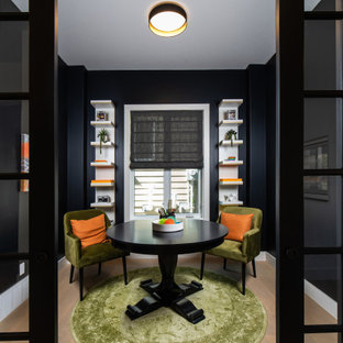 Transitional home office photo in Edmonton