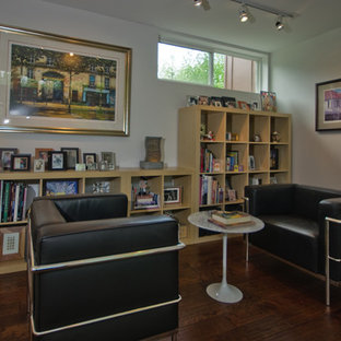 Example of a trendy home office design in Philadelphia