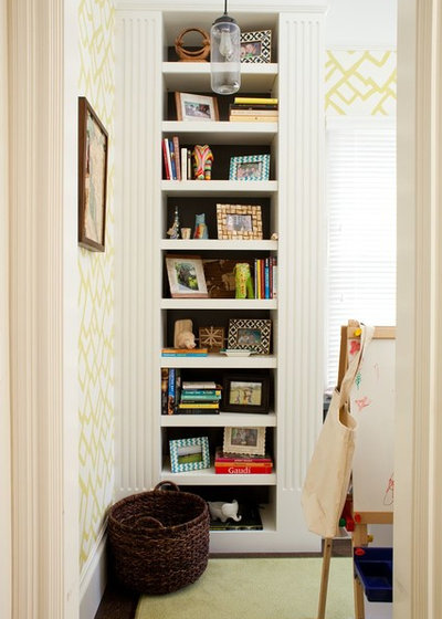 Transitional Home Office by Alicia Weaver Design, LLC