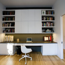 Contemporary Home Office by Todd Davis Architecture