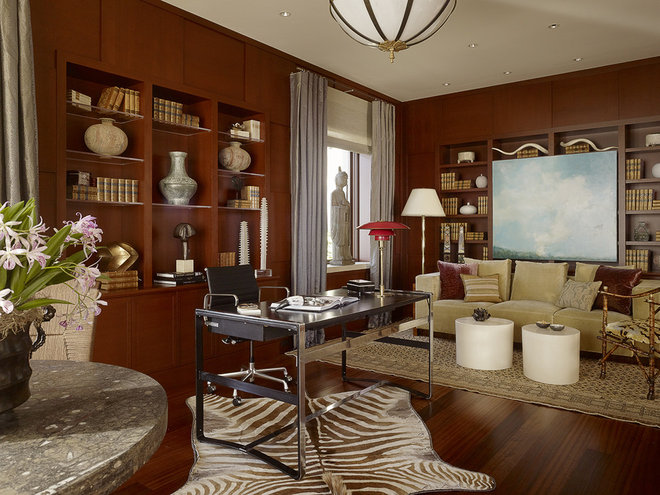 Contemporary Home Office by Tucker & Marks