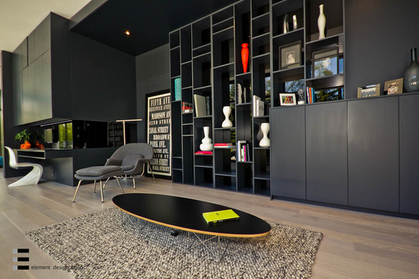 Modern Home Office by Element Design Build Inc.