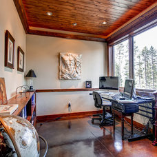 Traditional Home Office by Pinnacle Mountain Homes
