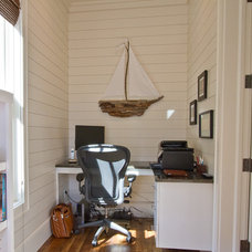 Beach Style Home Office by Borges Brooks Builders