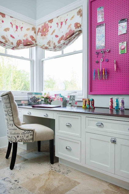 Transitional Home Office by Bickford And Company
