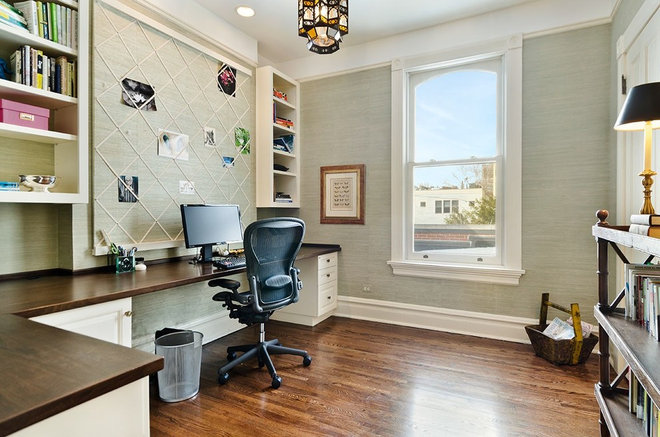 Traditional Home Office by Jennifer Ames Chicago