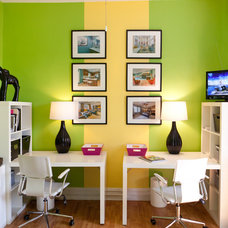 Eclectic Home Office by S&K Interiors